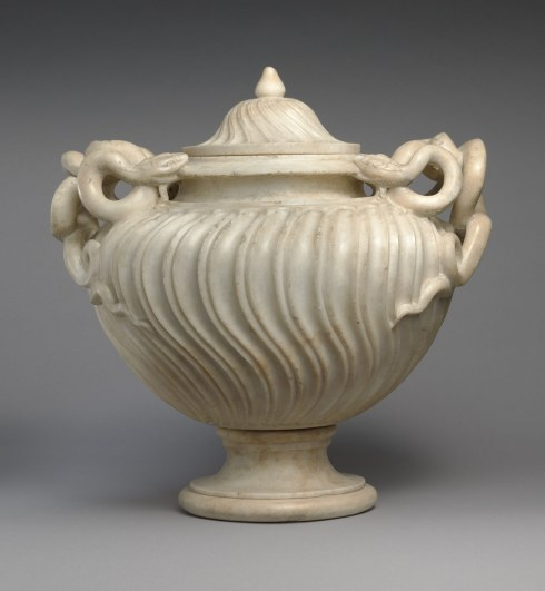 Working Title/Artist: Strigilated vase with snake handles and lid Department: Greek & Roman Art Culture/Period/Location: HB/TOA Date Code: 05 Working Date: second half of 2nd century A.D. photography by mma, DP146531.tif retouched by film and media (jnc) 4_2_08