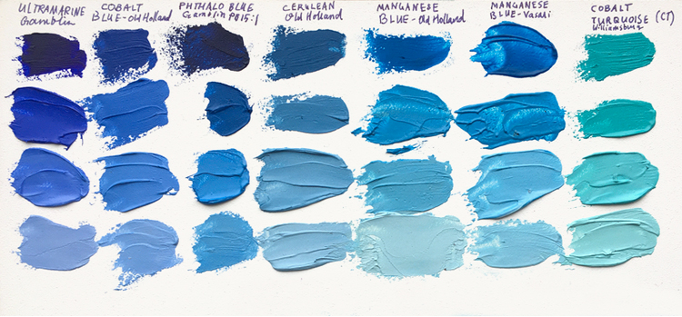 cyan-blue-paint-comparison-pigments-melissa-carmon-art-latest-print-the-full-gamut-of-including-genuine-manganese-above-you-can