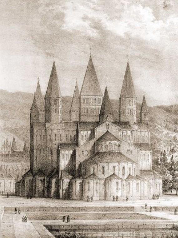 Cluny, Emile Sagot (1805-1888),Cluny XVI siecle, httppasserelles.bnf.fr