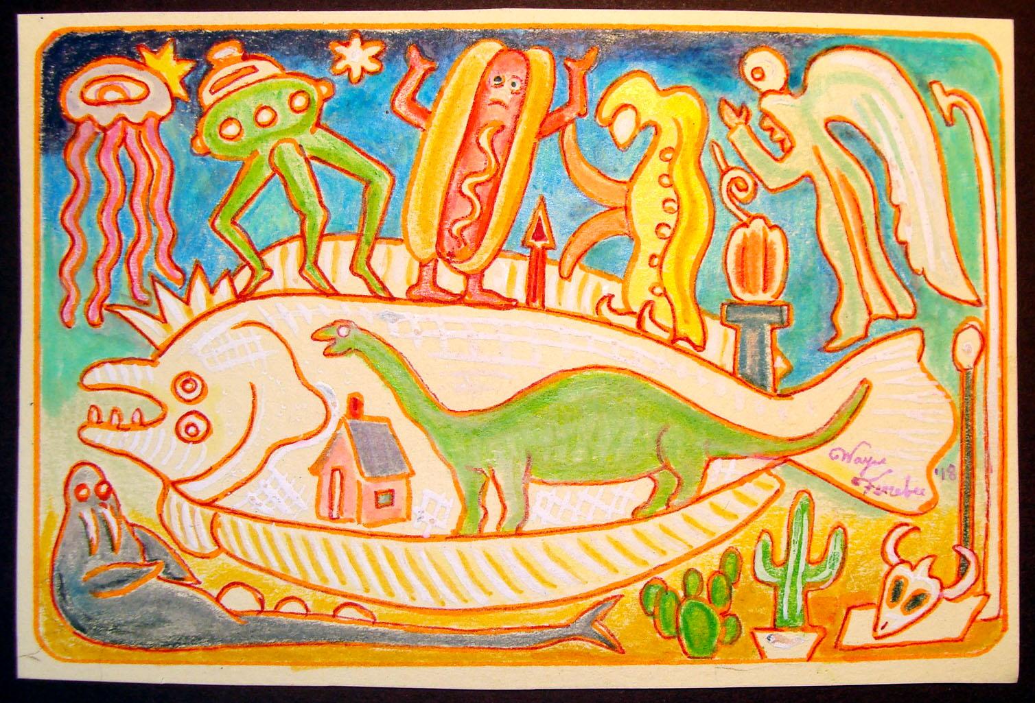 hotdog dinosaur flounder.jpg