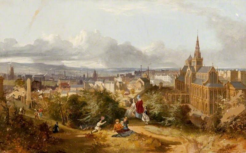 British (Scottish) School; Glasgow Cathedral from the Necropolis