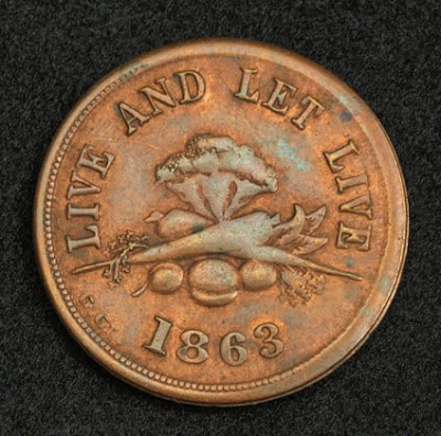 New York coin Civil War Token