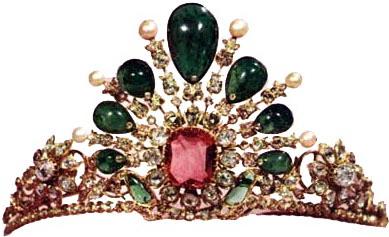 sunburst-emerald-diamond-tiara-princess-fatemeh