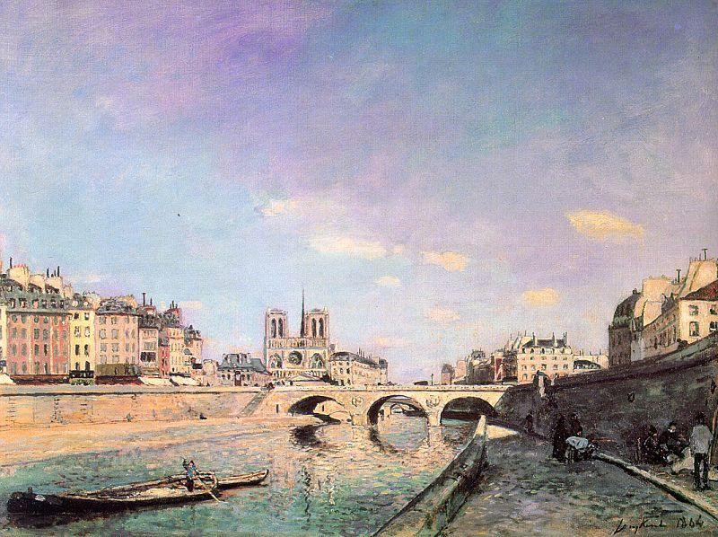 The-Seine-and-Notre-Dame-in-Paris-Johann-Jongkind