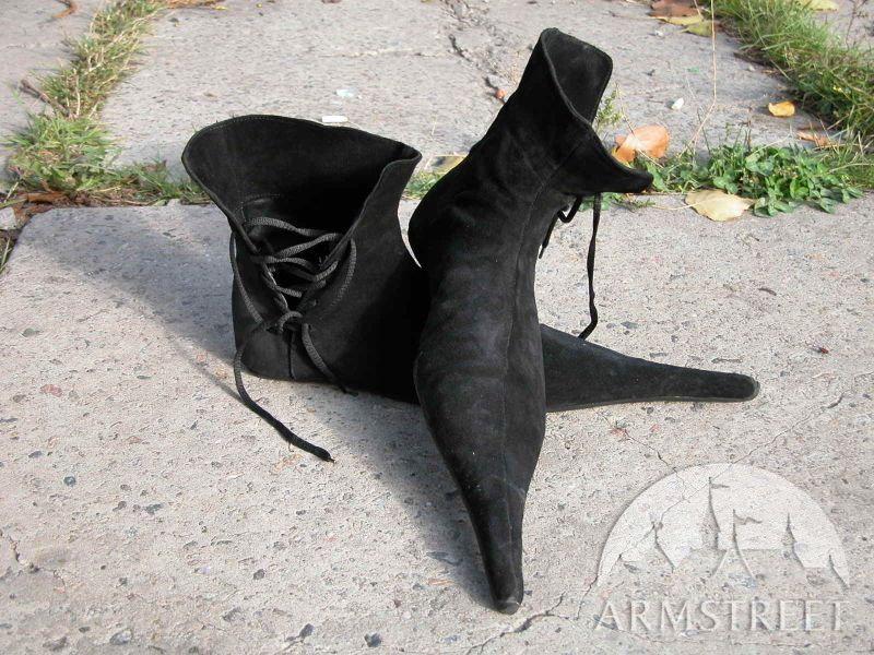 gothic-shoes-suede-long-toe