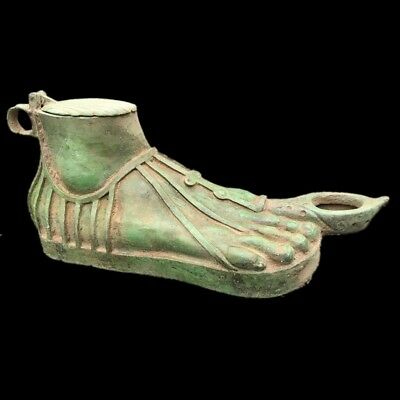Rare-Life-Size-Roman-Ancient-Bronze-Foot-Oil