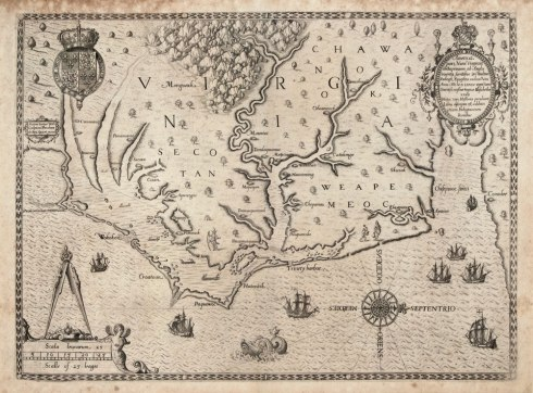 The_Carte_of_all_the_Coast_of_Virginia_by_Theodor_de_Bry_1585_1586