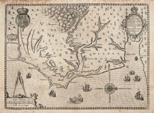 The_Carte_of_all_the_Coast_of_Virginia_by_Theodor_de_Bry_1585_1586