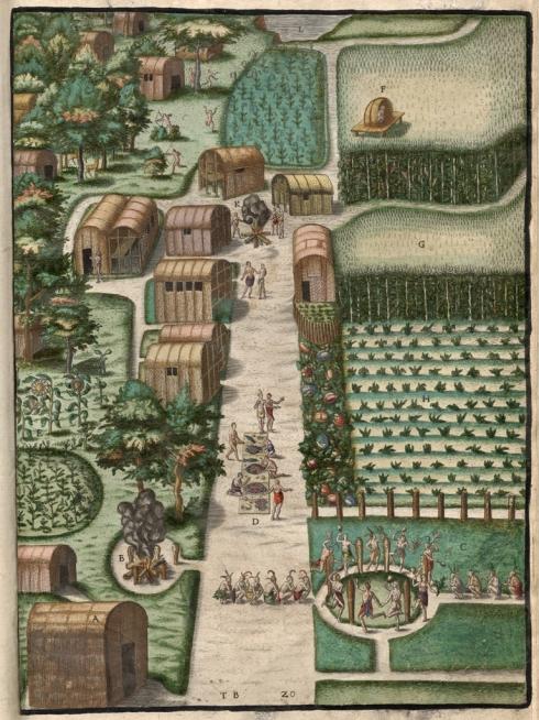 Village_of_Secoton_Theodor_de_Bry_1590
